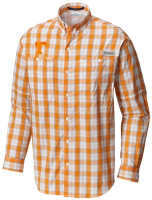 Tennessee Columbia Long Sleeve Super Tamiami Woven Shirt