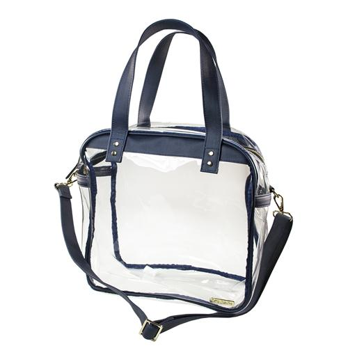 Navy And Clear Carryall Tote