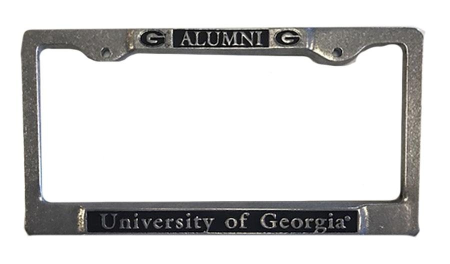 Georgia Pewter Alumni License Plate Frame