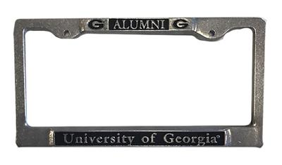 Georgia Pewter Alumni License Plate Frame