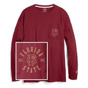 Florida State League Women's Campus Long Sleeve Pocket Tee