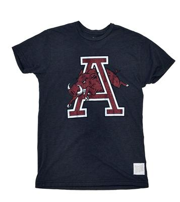 Arkansas Retro Brand Jumping Hog Mock Twist T-Shirt