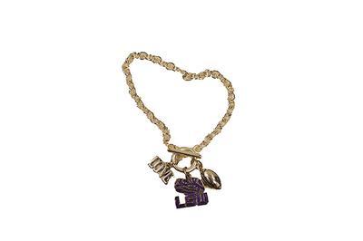 LSU Love Charm Coil Bracelet