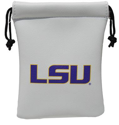 LSU Faux Leather Pouch