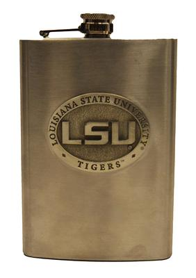 LSU Heritage Pewter Flask