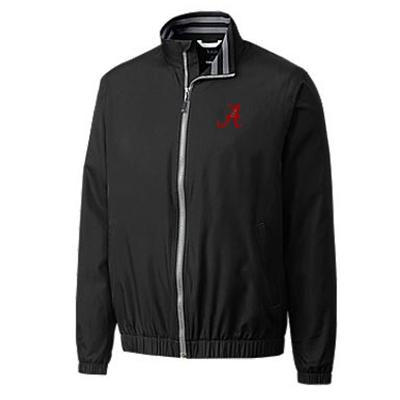Alabama Cutter and Buck Nine Iron Full Zip Jacket