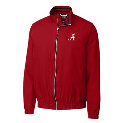 Alabama Cutter and Buck Nine Iron Full Zip Jacket CARD_RED