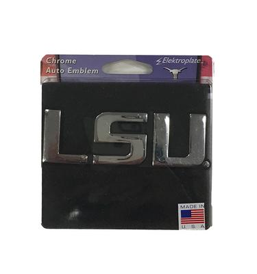 LSU Chrome Auto Emblem