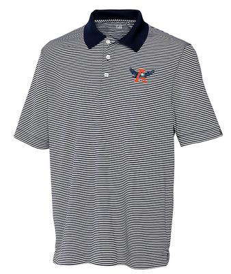 Auburn Cutter And Buck DryTec Trevor Stripe Polo