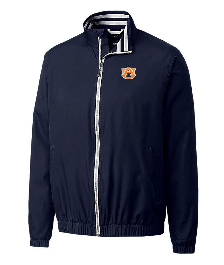 Auburn Cutter And Buck Nine Iron Full Zip Jacket