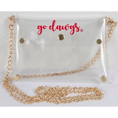 Georgia Clear Bag With Gold Chain