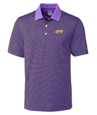 LSU Cutter And Buck Big And Tall Trevor Stripe Polo