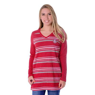Alabama UG Apparel Women's Striped Tunic Fleece Top