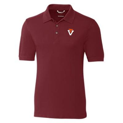Virginia Tech Cutter And Buck Advantage Alt Logo DryTec Polo