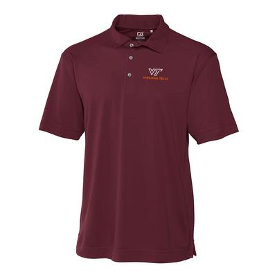 Virginia Tech Cutter And Buck DryTec Alt Logo Genre Polo