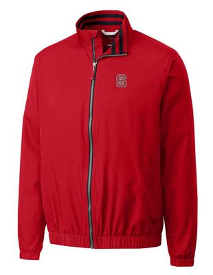 NC State Cutter And Buck Nine Iron Full Zip Jacket