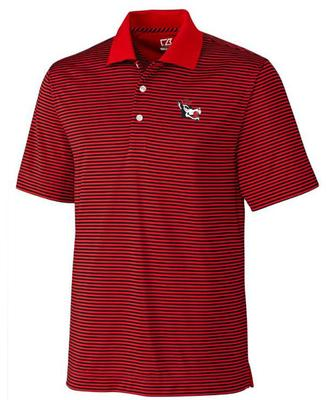 NC State Cutter And Buck DryTec Alt Logo Trevor Stripe Polo