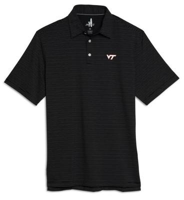 Virginia Tech Johnnie-O Albatross Jersey Pin Stripe Polo