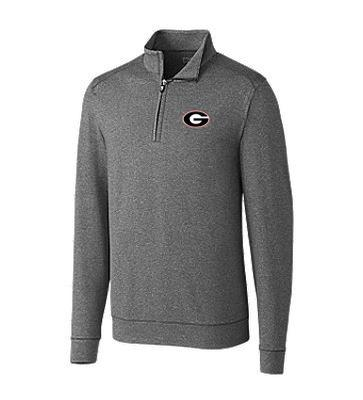 Georgia Cutter & Buck Big And Tall Shoreline 1/2 Zip Pullover