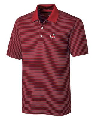 Georgia Cutter And Buck DryTec Alt Logo Trevor Stripe Polo