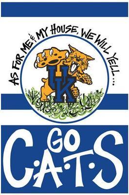 Kentucky Go Cats Garden Flag