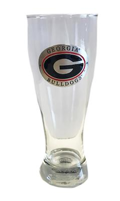 Georgia Heritage Pewter Pilsner Glass (Red Emblem)