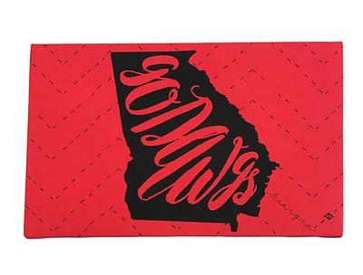 Georgia Go Dawgs Canvas 8