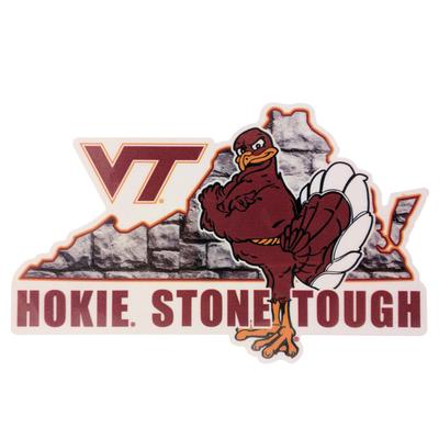 Virginia Tech Decal Hokie Stone Tough 6
