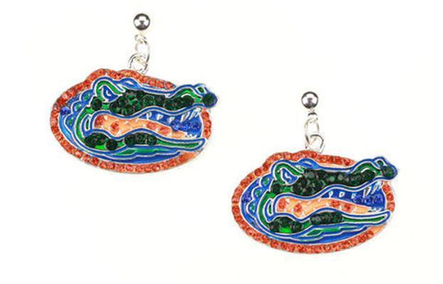 Florida Rhinestone Logo Earrings