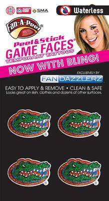 Florida Fan Dazzler Face Tattoos (4-Pack)