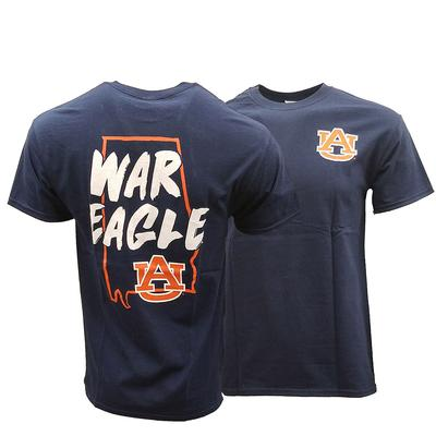 Auburn War Eagle State Tee