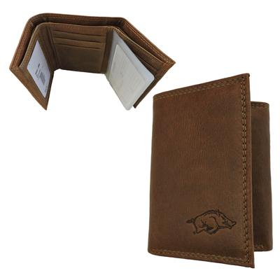 Arkansas Embossed Tri Fold Wallet