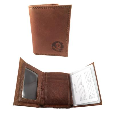 Florida State Embossed Tri Fold Wallet