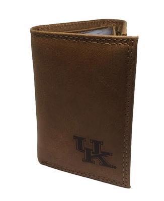 Kentucky Embossed Tri Fold Wallet