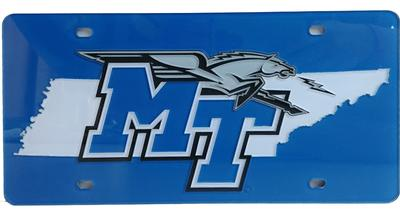 MTSU State Outline License Plate