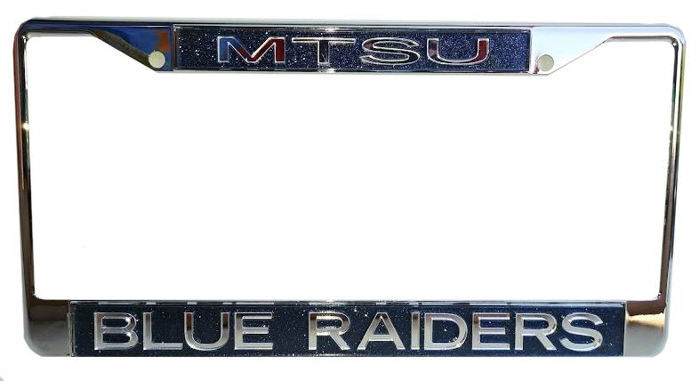 Mtsu Glitter Mirror Finish License Plate Frame