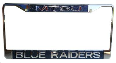 MTSU Glitter Mirror Finish License Plate Frame