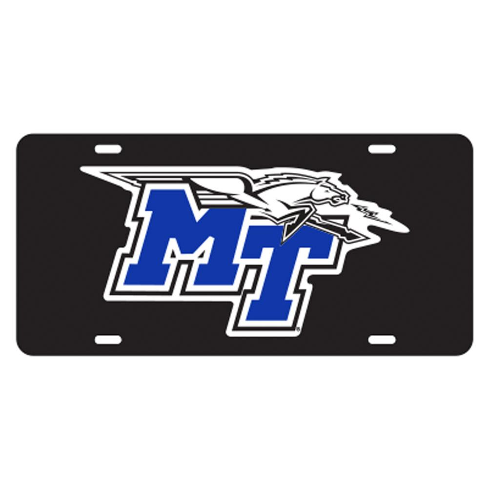 Mtsu License Plate Black With Lighting
