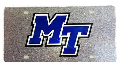 MTSU Glitter License Plate