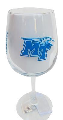 MTSU 12 Oz Gameday Wine Glass