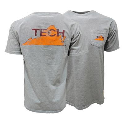 Virginia Tech Retro State Pocket T-Shirt