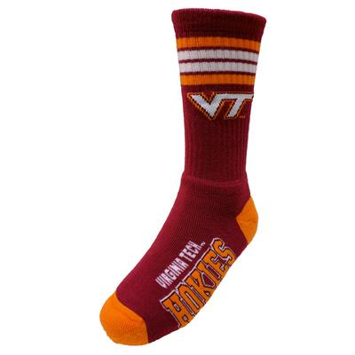 Virginia Tech 4 Stripe Deuce Socks