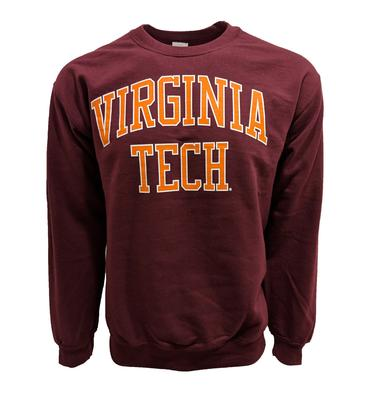 Virginia Tech Straight Arch Crew Sweatshirt