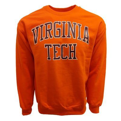 Virginia Tech Straight Arch Crew Sweatshirt