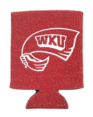 Western Kentucky Glittery Can Coozie