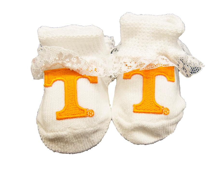 Tennessee Infant Lace Gift Box Booties