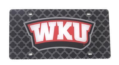 Western Kentucky License Plate Lattice Logo