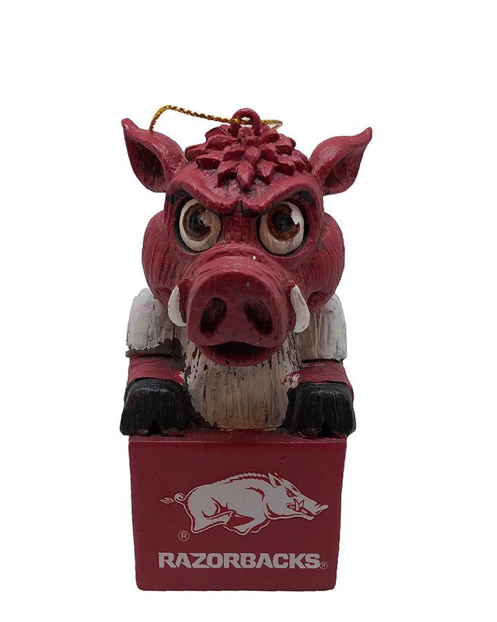 Arkansas Team Mascot Tiki Ornament