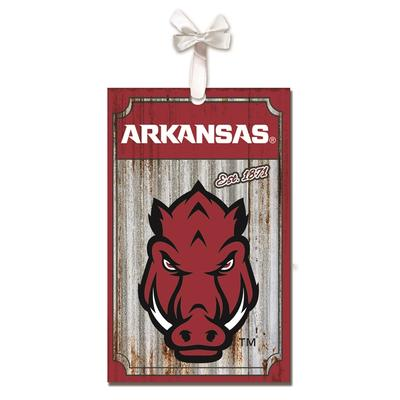 Arkansas Corrugated Metal Ornament