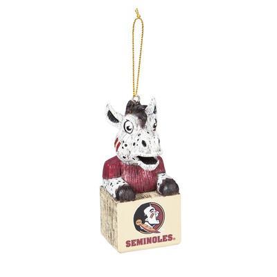 Florida State Team Mascot Tiki Ornament